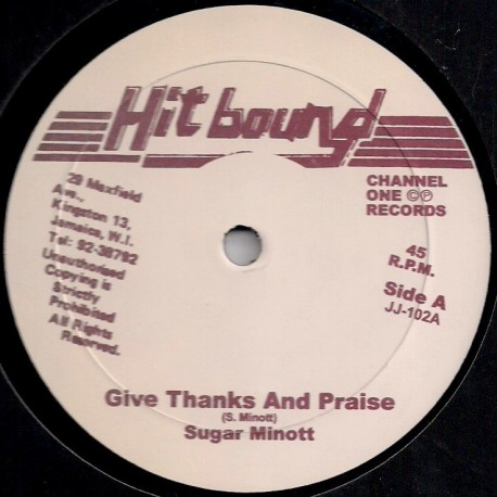 Sugar Minott - Give Thanks and Praise