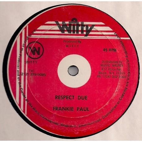 Frankie Paul - Respect Due