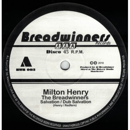 Milton Henry & The  Breadwinners - Salvation