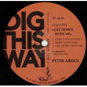 Peter Abdul - Get Down With Me LP