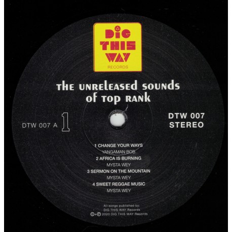 The Unreleased Sound Of Top Rank Records LP
