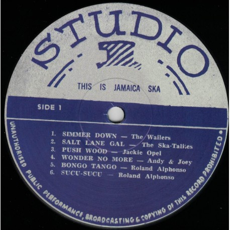 This Is Jamaica Ska - Presenting The Ska-Talites LP